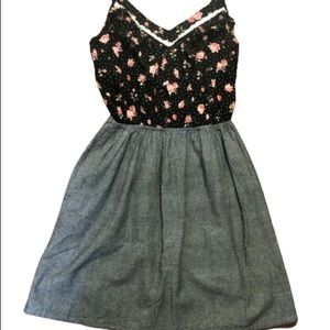 LUSH FIT AND FLARE SUMMER FLORAL TOP DRESS. Sm